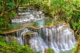 Waterfall in Kanchanaburi Province, Thailand Fotografie-Druck von Pongphan Ruengchai