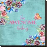 Awesome Floral Flowers - Square Bedruckte aufgespannte Leinwand von  Grab My Art