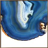 Cobalt Blue Agate A Lámina fotográfica enmarcada por  GI ArtLab
