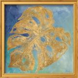 Teal Gold Leaf Palm II Plakat af Patricia Pinto