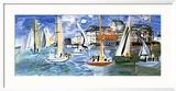 Regates Dans le Port de Trouville Prints by Raoul Dufy