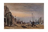 Brighton Beach, Haze clearing off, c1820 Giclee Print by Frederick Nash