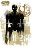 Star Wars Rogue One - K-2S0 Grunge Plakater