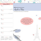 April in Paris Weekly - 2018 Desk Pad Calendar Kalenders