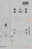 Star Wars Rogue One - U-Wing Plans Plakater
