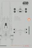 Star Wars Rogue One - U-Wing Plans Print