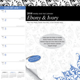 Ebony and Ivory Weekly - 2018 Desk Pad Calendar Kalender