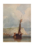Fishing Boats of the Headland, c1841 Giclee Print by William Callow