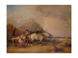 Coast Scene, with Figures and Horses, c1841 Giclee Print by William Shayer