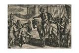 Die vanit Oudt legher door hongher ende noodt gheuen hen op, ende bidden lyfs ghenade..., 1612 Giclée-tryk af Antonio Tempesta