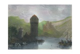 Tower of Niederlahnstein, 19th cenrury Giclee Print by Edward Goodall