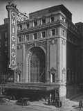 Front elevation, the Chicago Theatre, Chicago, Illinois, 1925 Photographic Print
