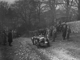 MG J2 of WH Haden climbing Nailsworth Ladder, Sunbac Colmore Trial, Gloucestershire, 1934 Reproduction photographique par Bill Brunell
