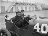 BS Marshall in his Aston Martin at the JCC 200 Mile Race, Brooklands, Surrey, 1921 Reproduction photographique par Bill Brunell