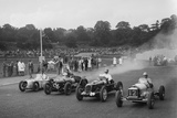 Austin 7 of WD Castello, Alta of Eric Winterbottom and MG K3 racing at Crystal Palace, London, 1939 Reproduction photographique par Bill Brunell