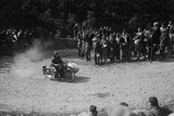 Rudge-Whitworth and sidecar of FV Garratt competing in the MCC Edinburgh Trial, 1930 Reproduction photographique par Bill Brunell