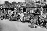 Alfa Romeos in the pits at the RAC TT Race, Ards Circuit, Belfast, 1929 Reproduction photographique par Bill Brunell