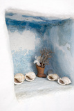 A Niche Outside of a Home Displays Shells Photographic Print by Krista Rossow
