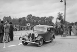 Frazer-Nash BMW 2-door saloon of JA Davies competing in the South Wales Auto Club Welsh Rally, 1937 Reproduction photographique par Bill Brunell