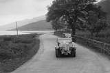 Armstrong-Siddeley of CD Siddeley competing in the RSAC Scottish Rally, 1932 Reproduction photographique par Bill Brunell