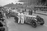 Mercedes-Benz SSKs of Malcolm Campbell and Earl Howe, Irish Grand Prix, Phoenix Park, Dublin, 1930 Reproduction photographique par Bill Brunell
