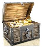Treasure Chest Cardboard Cutouts