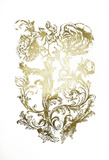 Gold Foil Flora & Filigree Print by Naomi McCavitt