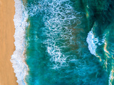 An Aerial View of Waves Crashing Against the Baja Coastline Photographic Print by Ben Horton