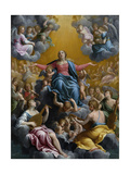 The Assumption of the Virgin. Ca. 1596 - 97 Giclee-trykk av Guido Reni