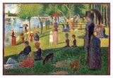 A Sunday on La Grande Jatte Giclee-trykk av Georges Seurat