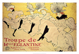 La Troupe de Mademoiselle Eglantine Lámina giclée por Henri de Toulouse-Lautrec