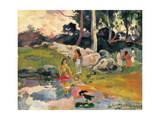 Frauen an einem Flussufer (Femmes au bord de la rivière). 1891-93 Stampa giclée di Paul Gauguin