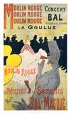 Moulin Rouge-La Goulue Lámina giclée por Henri de Toulouse-Lautrec