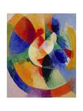 Circular Forms, Sun (Formes circulaires, soleil). 1912 - 13 Giclée-tryk af Robert Delaunay