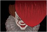 Menacing Clown With Balloon Plakat