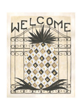 Welcome Pineapple Premium Giclee Print by Cindy Shamp