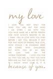 Kärleksbrev Love Letter Poster av Anna Quach