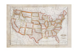 Map of USA Posters by Ramona Murdock