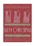 Kitty Christmas Posters by Cindy Shamp