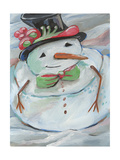 Snowman Prints by Anne Seay