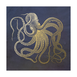 Golden Octopus Print by Ramona Murdock