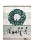 Thankful Wreath II Art by Jo Moulton