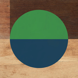 Mod Green and Blue Poster von Linda Woods