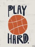 Basket-ball Affiches par Katie Doucette