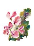 Pink Petals, Green Leaves Kunst av Sophia Rodionov