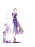 Purple Ballerina III Plakater av Sophia Rodionov