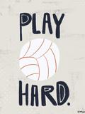 Volley-ball Poster par Katie Doucette