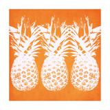 Orange Pineapples Affiches par Linda Woods