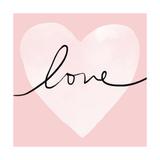 Pink Heart Love Posters par Linda Woods