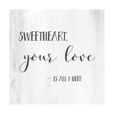 Sweetheart Affiche par Pamela J. Wingard